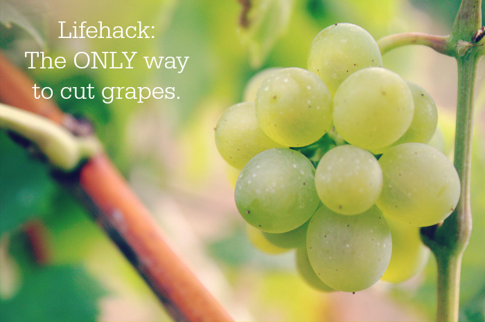 lifehack the only way to cut grapes