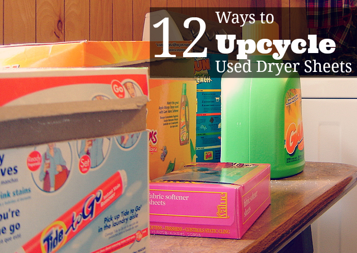 12 Ways to Upcycle Used Dryer Sheets